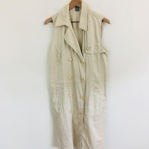 Ann Taylor Button Front Maxi Dress